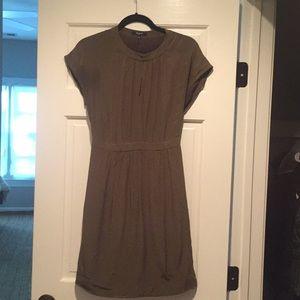 Silk Olive Dress